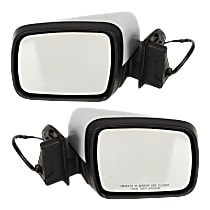 Kool Vue Power Mirror, Driver and Passenger Side, Manual Folding, Heated, w/o Memory and Camera, Paintable