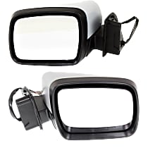 Kool Vue Power Mirror, Driver and Passenger Side, Power Folding, Heated, w/ Memory, w/o Camera, Paintable