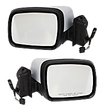 Kool Vue Power Mirror, Driver and Passenger Side, Manual Folding, Heated, w/ Memory, w/o Camera, Paintable
