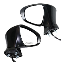 Driver and Passenger Side Heated Mirror - Power Glass, Manual Folding, Without memory, Textured Black