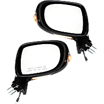 Power Mirror, Driver & Passenger Side, Fits Models w/o Luxury/Sport Pkg, Manual Folding, Heated, w/o Memory, w/ Signal and Puddle Light, Paintable