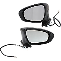 Mirror - Driver and Passenger Side (Pair), Power, Heated, Folding, Paintable, With Turn Signal and Puddle Lamp, For Sedan