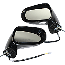Mirror - Driver and Passenger Side (Pair), Power, Heated, Folding, Paintable, With Turn Signal and Puddle Lamp, For Convertible