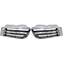 Grille Assembly - Chrome Shell with Painted Black Insert, Driver and Passenger Side