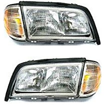 Driver and Passenger Side Halogen Headlight, With Bulb(s) - Models With (202) Chassis
