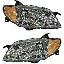 Driver and Passenger Side Halogen Headlight, With Bulb(s) - Sedan