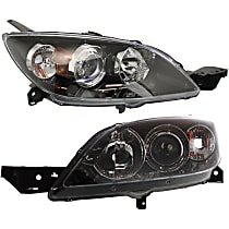 Driver and Passenger Side Halogen Headlight, Without bulb(s) - Hatchback