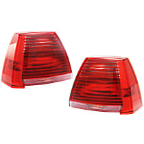 Driver and Passenger Side Tail Light, With bulb(s) - Red Lens, 2.4L Eng.