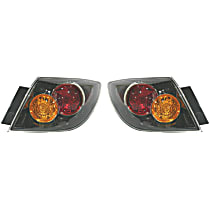 Driver and Passenger Side Tail Light, Without bulb(s) - Clear Lens, Hatchback