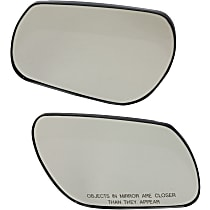 Driver and Passenger Side Non-Heated Mirror Glass, Without Turn Signal Light