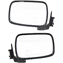 Mirror - Driver and Passenger Side (Pair), Folding, Chrome, Black Base