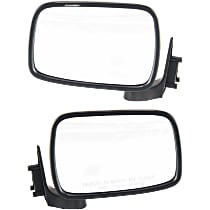 Kool Vue Manual Mirror, Driver and Passenger Side, Manual Folding, Chrome