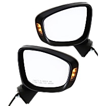 Kool Vue Power Mirror, Driver and Passenger Side, To 4-1-14, Manual Folding, Non-Heated, w/ Signal, Paintable