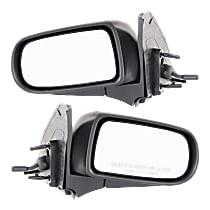Kool Vue Manual Remote Mirror, Driver and Passenger Side, Manual Folding, Textured Black