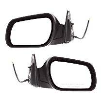 Mirror - Driver and Passenger Side (Pair), Folding, Paintable