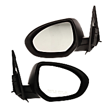 Mirror - Driver and Passenger Side (Pair), Power, Paintable, With Turn Signal, For Sedan or Hatchback