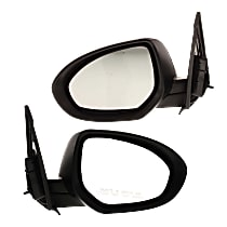 Kool Vue Power Mirror, Driver and Passenger Side, Manual Folding, Non-Heated, w/ Signal, Paintable