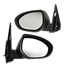 Mirror - Driver and Passenger Side (Pair), Power, Heated, Paintable, With Turn Signal, For Sedan or Hatchback
