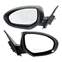 Mirror - Driver and Passenger Side (Pair), Power, Paintable, For Sedan or Hatchback
