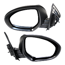 Mirror - Driver and Passenger Side (Pair), Power, Heated, Paintable, For Sedan or Hatchback