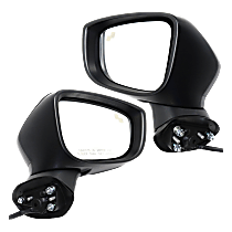 Mirror - Driver and Passenger Side (Pair), Power, Paintable, With Turn Signal and Blind Spot Function, For Japan or Mexico Built Models