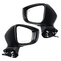 Mirror - Driver and Passenger Side Pair, Power, Heated, Paintable, w/ Turn Signal, Blind Spot Function, For Japan or Mexico Built Models