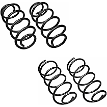 Front and Rear Coil Springs, Set of 4