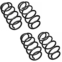 Front and Rear Coil Springs, Set of 2