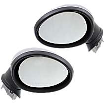 Kool Vue Power Mirror, Driver and Passenger Side, Power Folding, Heated, w/o Auto Back Hold, Paintable