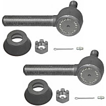 Tie Rod End - Set of 2 Front or Rear, Driver and Passenger Side