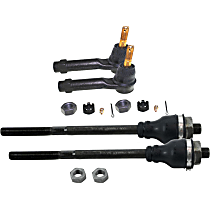 SET-MOES3488 Tie Rod End - Front Driver and Passenger Side, Inner and Outer