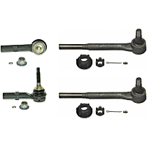 SET-MOES409LT Tie Rod End - Front, Driver and Passenger Side, Inner and Outer