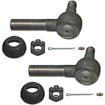 Tie Rod End - Set of 2 Front and Rear Driver Side