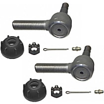 Tie Rod End - Set of 2 Front and Rear Driver Side, Outer