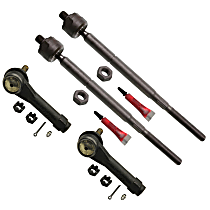 Tie Rod End - Front, Driver and Passenger Side, Inner and Outer, Set of 4
