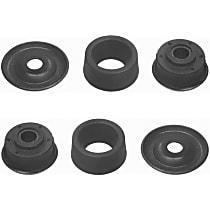 Strut Mount Bushing - Black, Rubber, Direct Fit, Set of 2