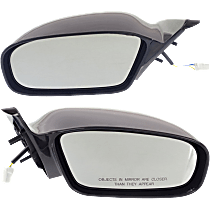 Mirror - Driver and Passenger Side (Pair), Power, Paintable, For Coupe
