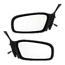 Manual Mirror, Driver and Passenger Side, Non-Folding, Paintable