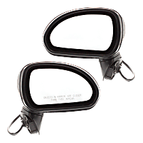 Power Mirror, Driver and Passenger Side, Coupe, Manual Folding, Non-Heated, Paintable