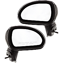 Power Mirror, Driver and Passenger Side, Coupe, Manual Folding, Heated, Paintable