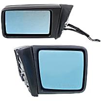 Kool Vue Power Mirror, Driver and Passenger Side, Manual Folding, Heated, Rectangular Housing, Paintable