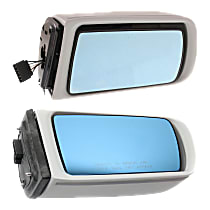 Kool Vue Power Mirror, Driver and Passenger Side, Manual Folding, Heated, w/o Memory, Paintable