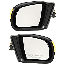Kool Vue Power Mirror, Driver and Passenger Side, Manual Folding, Heated, w/ Memory and Signal, w/o Puddle Light, Paintable