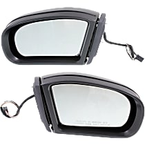 Kool Vue Power Mirror, Driver and Passenger Side, Coupe/Sedan, Manual Folding, Heated, w/o Memory, w/ Signal, Paintable