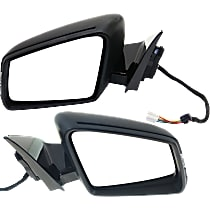 Kool Vue Power Mirror, Driver and Passenger Side, Manual Folding, Heated, w/ Memory, Signal and Puddle Light, Paintable