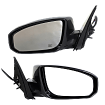 Mirror - Driver and Passenger Side (Pair), Power, Heated, Power Folding, Paintable, With Memory