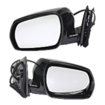Kool Vue Power Mirror, Driver and Passenger Side, Manual Folding, Heated, w/o Memory, w/ Smart Entry System, Paintable
