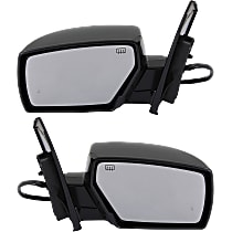 Power Mirror, Driver and Passenger Side, SE Model, Manual Folding, Heated, w/ Memory, Paintable