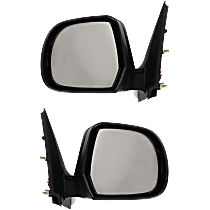 Mirror - Driver and Passenger Side (Pair), Power, Folding, Paintable, For Sedan