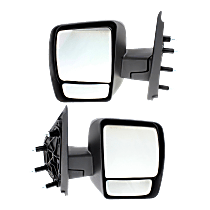Manual Mirror, Driver and Passenger Side, S Model, Manual Folding, Textured Black